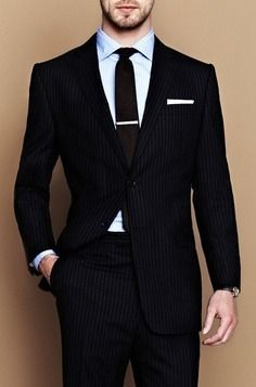Black Pinstripe Suit,