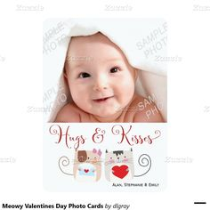 Meowy Valentines Day Photo Cards