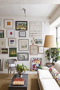 art in living room
