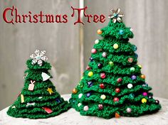 Crochet Christmas Tree free pattern - Free Crochet Christmas Tree Patterns - The Lavender Chair