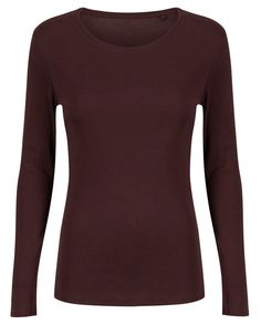 e4dad97c045 Marks   Spencer Womens Pure Cotton Long Sleeve Top New M S Crew Neck T-Shirt  Tee Womens Pure Cotton