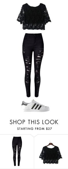 """Sin título #181"" by karenrodriguez-iv on Polyvore featuring moda, WithChic y adidas"