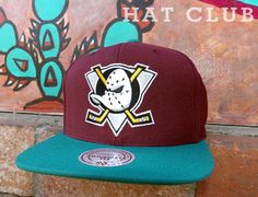 MITCHELL & NESS Mighty Ducks Snapback Cap Collection @ HAT CLUB