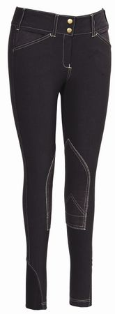 Equine Couture Sportif Natasha Breeches - Chocolate-Light Tan - these would be amazing for riding again <3