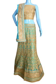 Buy Now Sky Blue Heavy Zari Diamond Work Wedding Semi-Stitch Lehenga Choli With Blouse only at Lalgulal.com. Price :- 6,822/- inr. To #Order :- http://goo.gl/KqKzIX To Order you Call or #Whatsapp us on +91-95121-50402 COD & Free Shipping Available only in India.