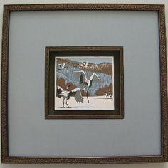 Japanese cranes Japanese Crane, Animal Paintings, Custom Framing, Frame, Creative, Animals, Ideas, Home Decor, Picture Frame