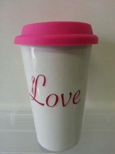 Love Coffee Travel Mug : Amazon.com : Kitchen & Dining Travel Mugs, Coffee Travel, Jennifer Lopez Love, Cool Gadgets, Kitchen Dining, Coffee Cups, Amazon, Tableware, House