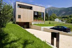 West Fassade: moderne Häuser von dreipunkt ag