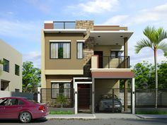 Home design story the by best two storey house designs. 2 Story House Design, Simple House Design, House Front Design, Modern House Design, Home Design, Modern Exterior House Designs, Minimalist House Design, Double Storey House Plans, 3 Storey House