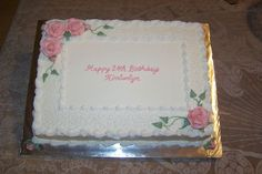 Sheet Cake For Kimberlyn 11 x 15 white sheet cake. Cornelli lace is RI and the rest is buttercream. I just realized when I downloaded this...