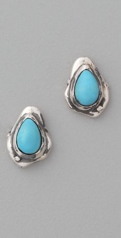 Elizabeth and James Turquoise Howlite Earrings - StyleSays