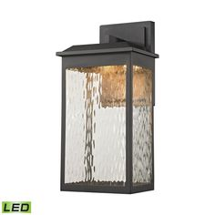Newcastle LED Outdoor Wall Sconce In Matte Black 45201/LED