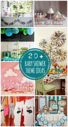 20+ Baby Shower Theme Ideas on { lilluna.com } #babyshower