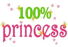 100% Princess - 3 Sizes! | Princess | Machine Embroidery Designs | SWAKembroidery.com Band to Bow