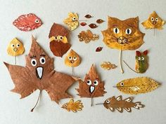 """""""Fall"""" In Love with These Quirky Leaf Friends (Handmade Charlotte) Autumn Crafts, Fall Crafts For Kids, Autumn Art, Nature Crafts, Toddler Crafts, Autumn Leaves, Diy For Kids, Kids Crafts, Diy And Crafts"""