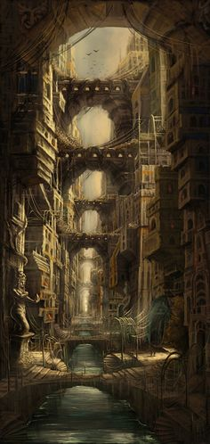 Lost City Picture (2d, fantasy, city, architecture)