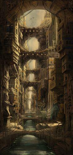 Fantasy Medieval City | Fantasy Art City Lost city picture (2d, fantasy
