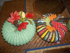 Pumpkin Made From Dryer Vent Hose and Fabric- Tutorial :: Hometalk