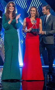 Kate Middleton, Bradley Wiggins, Jessica Ennis and David Beckham at Sports Personality of the Year 2012