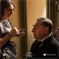 Carson is (almost) ready for his close-up! #JimCarter #BehindTheScenes #DowntonAbbey