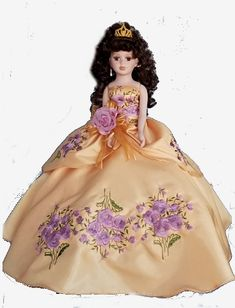 9ad05d7ea Gold with Roses Charra Quinceanera Doll - Quinceanera Style Quinceanera  Themes