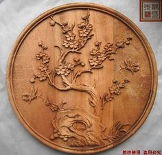 Relieve Dongyang talla de madera artesanias estilo chino chimonanthus decoración de la pared