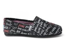Pink Let Love Rule Women's Vegan Classics | TOMS.com #toms