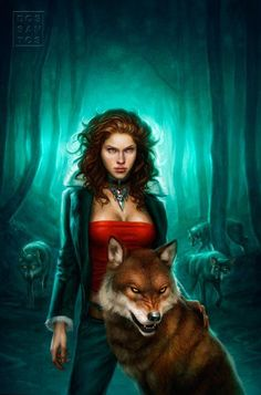 Sonia Nermano, Wolfwere (shown in human and wolf form), reclaimed her ancestral mansion from occupation by werewolves, her family's dedicated foes.