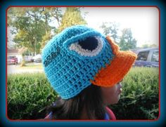 crocheted character hat inspired by Agent P or Perry the platypus from phineas and ferb (toddler/Kids). $20.00, via Etsy.