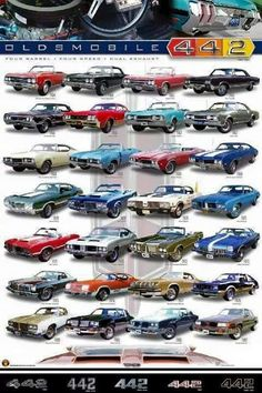 Ideas For Old Cars Vintage Muscle Oldsmobile 442 Vintage Cars, Antique Cars, Chevrolet Corvette, Chevy, Automobile, Gm Car, Oldsmobile Cutlass, American Muscle Cars, Rat Rods