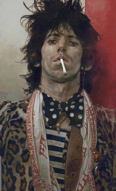 """The Fugitive [Keith Richards]"" by Sebastian Kruger"