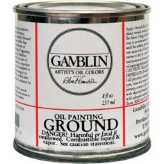 Gamblin Oil Painting Ground Size: 8 oz