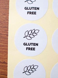 White paper laminated gluten free round by ctdscraftsupply Food Stickers, White Paper, Gluten Free, Packaging, Handmade Gifts, Etsy, Glutenfree, Kid Craft Gifts, Craft Gifts