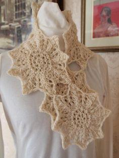 Snow Star Scarf PDF Hand Knitting Pattern