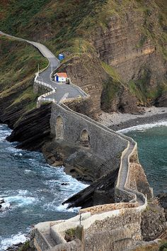 San Juan de Gaztelugatxe (Basque: Gaztelugatxeko Doniene) is a tiny island on the coast of Biscay belonging to the municipality of Bermeo, in Basque Country (Spain).