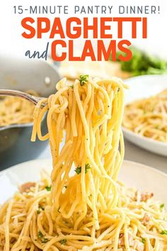 Clam Pasta, Seafood Pasta, Seafood Dishes, Pasta Dishes, Seafood Recipes, Pasta Recipes, Cooking Recipes, Healthy Recipes, Recipes