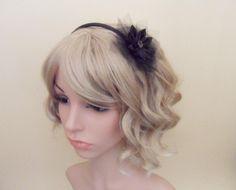 14,-  //  Haarreif-Gothic schwarz Haarblume von Cosara auf DaWanda.com