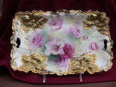 RS Prussia Carnation Mold Tray Heavy Gold Super   eBay