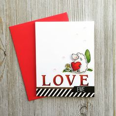 Handmade Love Card Valentines Day Card by CharmingCardDesigns