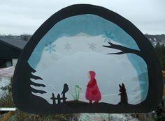 Jahreszeitentisch -  Transparentbild Schneeglöckchen - ein Designerstück von Puppenprofi bei DaWanda