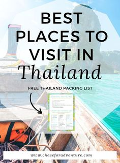 Traveling to Thailand?! Let us show you the best places to visit in Thailand in this top 10! We cover gorgeous places like Railay Beach, and other hidden gems like Pai, Thailand! Click through to get your free itinerary!  #thailand #thailandtop10 #top10 #wanderlust #travelguide
