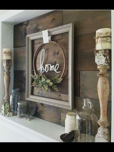 Use my metal gather sign on the wine barrel lid and add the greenery.