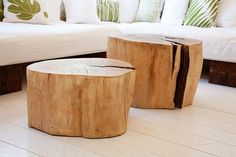 I love these! they can be footstools.. or coffee tables!