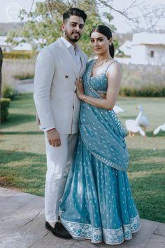 muslim wedding dresses with sleeves and hijab Dress Indian Style, Indian Fashion Dresses, Indian Designer Outfits, Designer Dresses, Couple Wedding Dress, Indian Wedding Couple, Indian Weddings, Indian Wedding Clothes, Wedding Couples