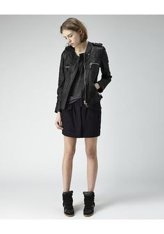 the jacket! Isabel Marant via TresChicNow.com #leather #motojacket