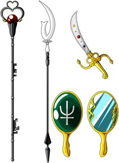 ☆彡 Sailor Pluto, Saturn, Uranus & Neptune Magical Items  ☆彡