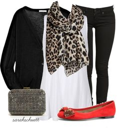 polyvore animal print shoes | Black and white with a dash of animal print and pop ... | Fashion, ...