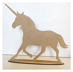 Unicorn Horse MDF Shape DIY Raw Cut Out Art Craft Decor | The Renmy St– The Renmy Store