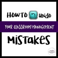 to undo your classroom management mistakes - It's NEVER too late to change something that's not working.How to undo your classroom management mistakes - It's NEVER too late to change something that's not working. Classroom Routines, Classroom Management Strategies, Classroom Procedures, Behaviour Management, Classroom Behavior, Special Education Classroom, Teaching Strategies, Teaching Tips, School Classroom