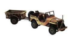 This vehicle paper model is a WWII Willys MB Jeep, a four-wheel drive utility vehicle, the papercraft created by ABC, and the scale is in 1:50.